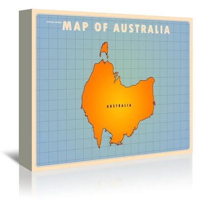 Americanflat Australia by Diego Patino Graphic Art Wrapped on Canvas