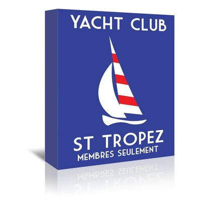 Americanflat Yacht Club by Alan Walsh Graphic Art Wrapped on Canvas