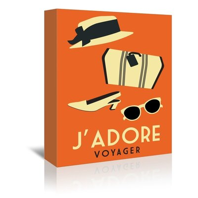 Americanflat J'Adore Voyage by Alan Walsh Graphic Art Wrapped on Canvas