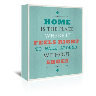 Americanflat Without Shoes Typography Wrapped on Canvas