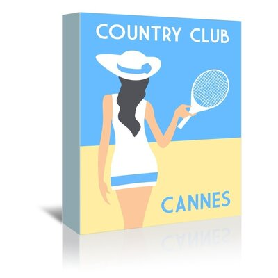 Americanflat Country Club, Cannes by Alan Walsh Vintage Advertisement Wrapped on Canvas