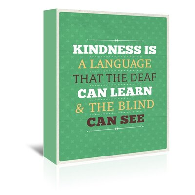 Americanflat Kindness Typography Wrapped on Canvas