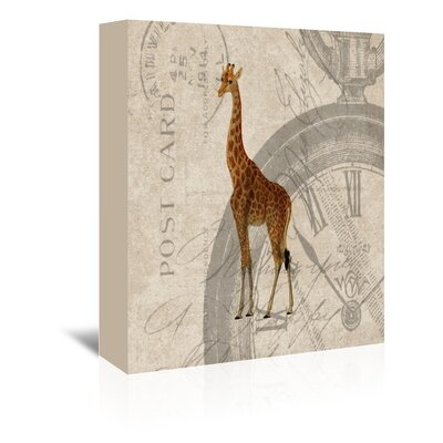 Americanflat Giraffe Graphic Art Wrapped on Canvas