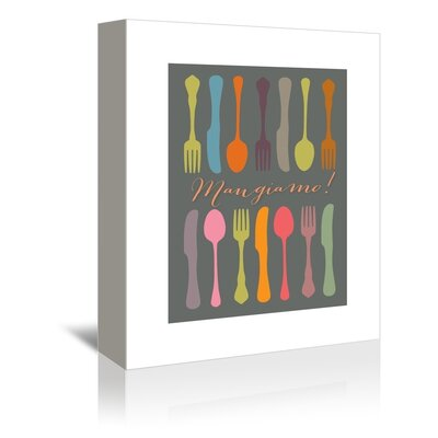 Americanflat Mangiamo Collage Graphic Art on Canvas