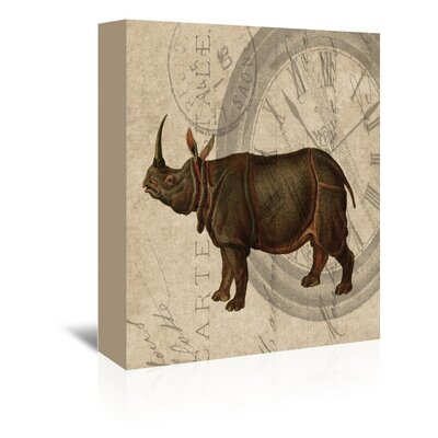 Americanflat Rhino Grapped Graphic Art Wrapped on Canvas