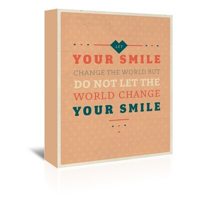 Americanflat Smile Typography Wrapped on Canvas