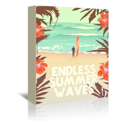 Americanflat Endless Summer Waves by Diego Patino Graphic Art Wrapped on Canvas