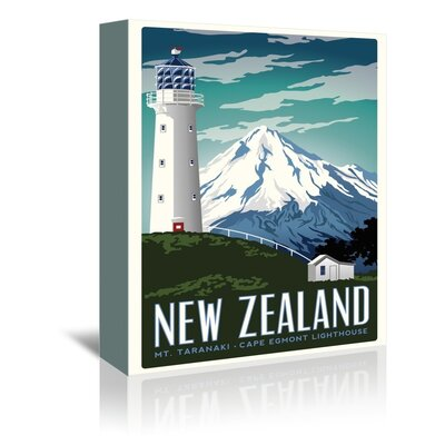 Americanflat New Zealand Graphic Art Wrapped on Canvas