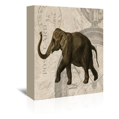 Americanflat Elephant Graphic Art Wrapped on Canvas