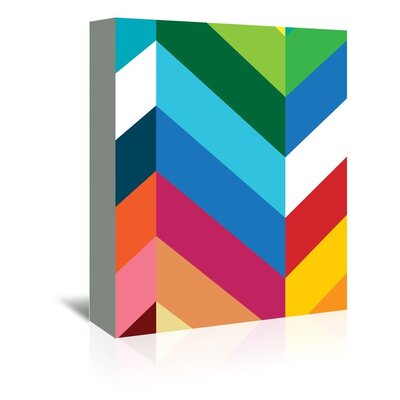 Americanflat Chevron Graphic Art Wrapped on Canvas