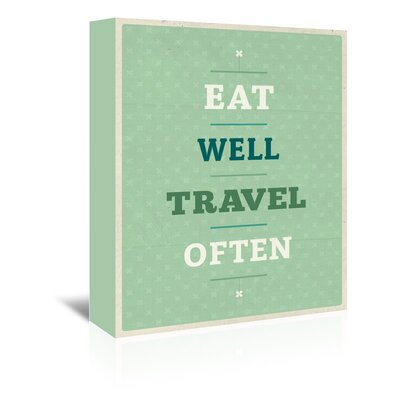Americanflat Eat Well Travel Often Typography Wrapped on Canvas