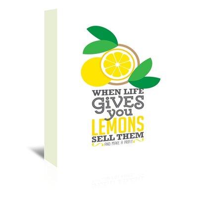 Americanflat Lemons Graphic Art on Canvas