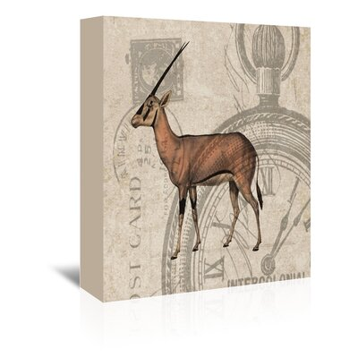 Americanflat Blackbuck Graphic Art Wrapped on Canvas
