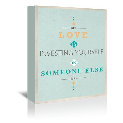 Americanflat Investing Yourself Typography Wrapped on Canvas