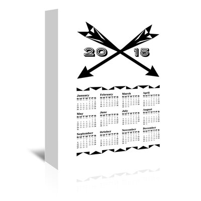 Americanflat Fata Calendar Graphic Art Wrapped on Canvas