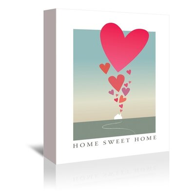 Americanflat Home Sweet Home Graphic Art on Canvas