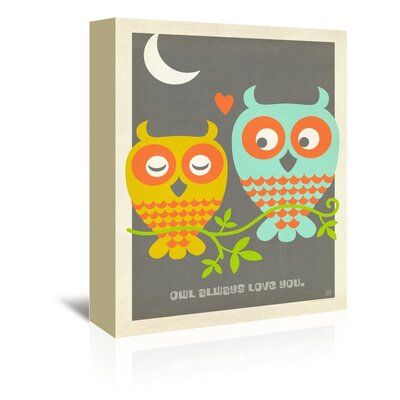 Americanflat Owl Always Love You Graphic Art on Canvas