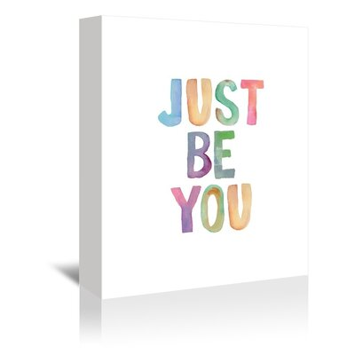 Americanflat Just Be You Typography Wrapped on Canvas