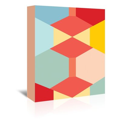 Americanflat Geometric Multi Typography Wrapped on Canvas