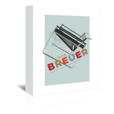 Americanflat Breuer Chair Graphic Art Wrapped on Canvas