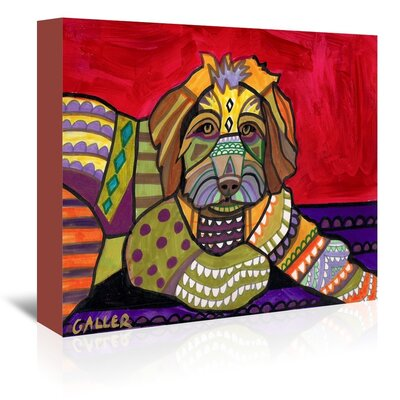 Americanflat Aussie Doodle Art Print Wrapped on Canvas
