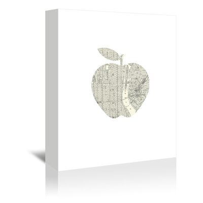 Americanflat New York Apple Graphic Art Wrapped on Canvas