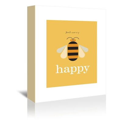 Americanflat Bee Happy Graphic Art on Canvas