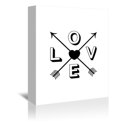 Americanflat Love Heart Arrows Graphic Art Wrapped on Canvas