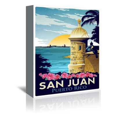 Americanflat San Juan by Puerto Rico Vintage Advertisement Wrapped on Canvas