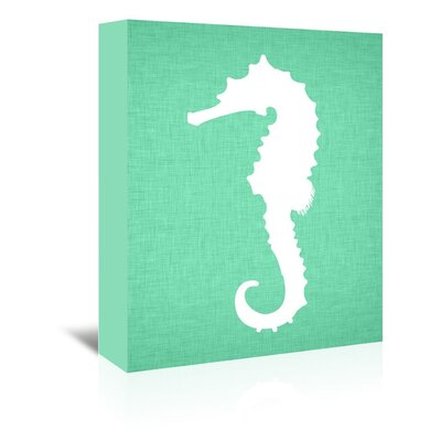 Americanflat Seahorse Graphic Art on Canvas