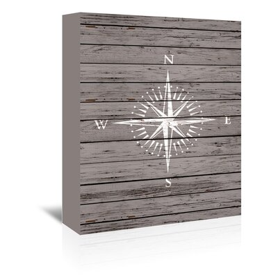 Americanflat Quad Compass Graphic Art Wrapped on Canvas