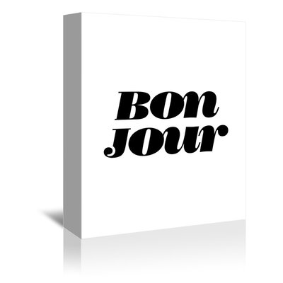 Americanflat Bonjour Typography Wrapped on Canvas
