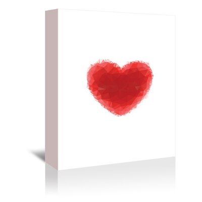 Americanflat Love Heart Graphic Art on Canvas