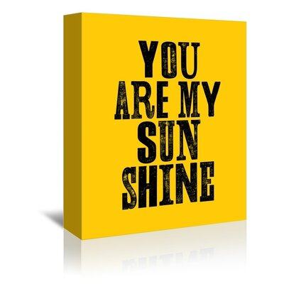 Americanflat You Are My Sunshine Typography on Canvas