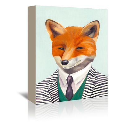 Americanflat Mr. Fox Art Print Wrapped on Canvas