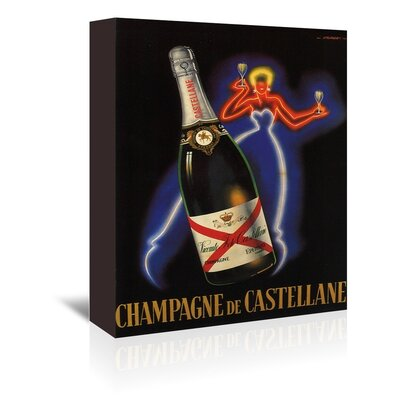 Americanflat Champaign Vintage Advertisement Wrapped on Canvas