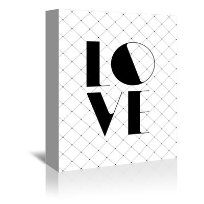 Americanflat All You Need Is Love Typography Wrapped on Canvas