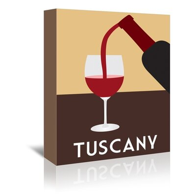 Americanflat Tuscany by Alan Walsh Vintage Advertisement Wrapped on Canvas
