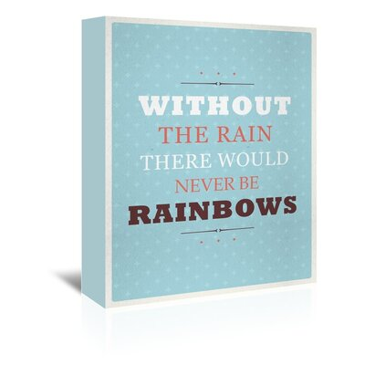 Americanflat Rainbows Typography Wrapped on Canvas