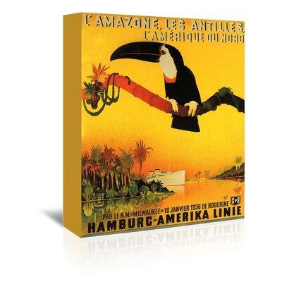 Americanflat Lamazone Bird Vintage Advertisement Wrapped on Canvas