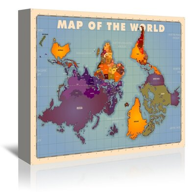 Americanflat World Map by Diego Patino Graphic Art Wrapped on Canvas