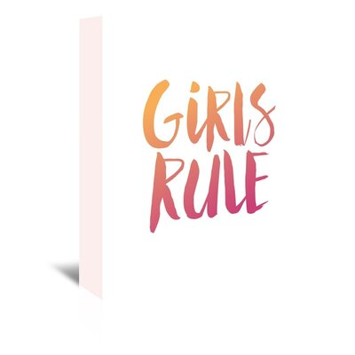 Americanflat Girls Rule Typography Wrapped on Canvas