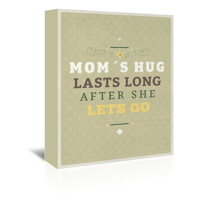 Americanflat Mom's Hug Typography Wrapped on Canvas