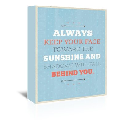 Americanflat Sunshine Typography Wrapped on Canvas