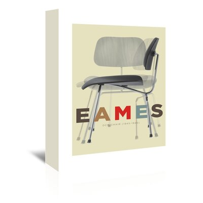Americanflat Eames Chair Graphic Art on Canvas