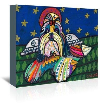 Americanflat Shih Tzu Angel Art Print Wrapped on Canvas