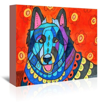 Americanflat Belgian Sheepdog Art Print on Canvas