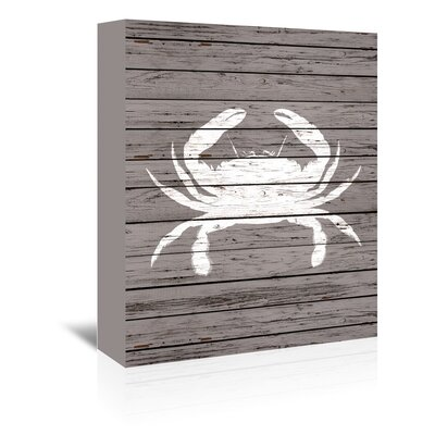 Americanflat Wooden Crab Graphicl Art Wrapped on Canvas