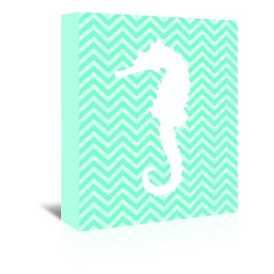 Americanflat Seahorse Chevron Graphic Art Wrapped on Canvas