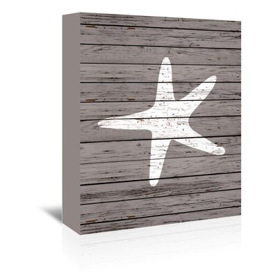 Americanflat Wooden Starfish Graphic Art Wrapped on Canvas